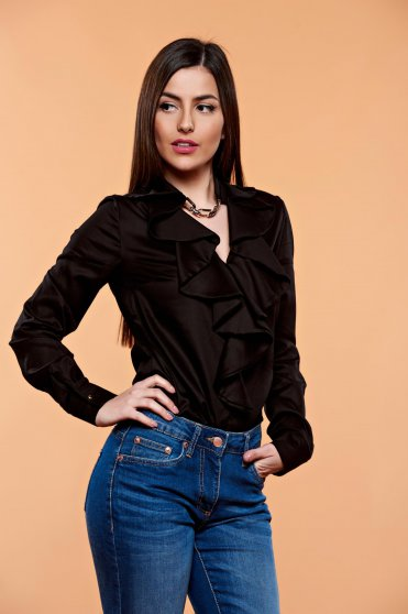 Bluza PrettyGirl Flame Design Black