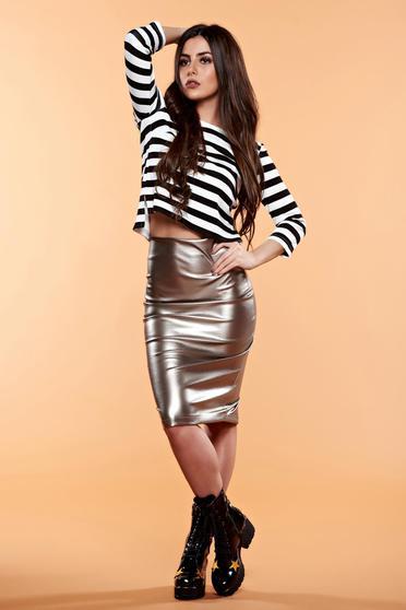 Bluza dama StarShinerS neagra cu dungi orizontale