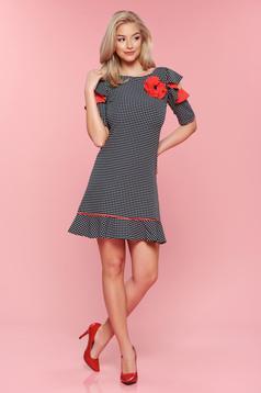 Rochie buline LaDonna rosie cu maneci tip fluture
