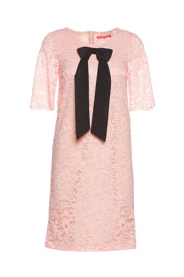 Rochie StarShinerS rosa eleganta din dantela captusita pe interior