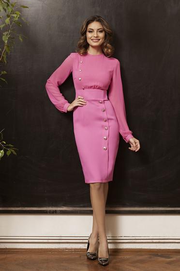 Rochie PrettyGirl Office Desire Pink