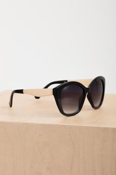 Ochelari de soare cu lentile cat-eye Top Secret negru cu accesoriu metalic