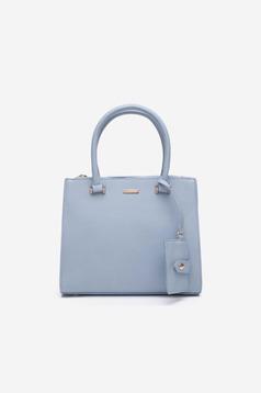 Geanta dama office albastra-deschis din piele ecologica