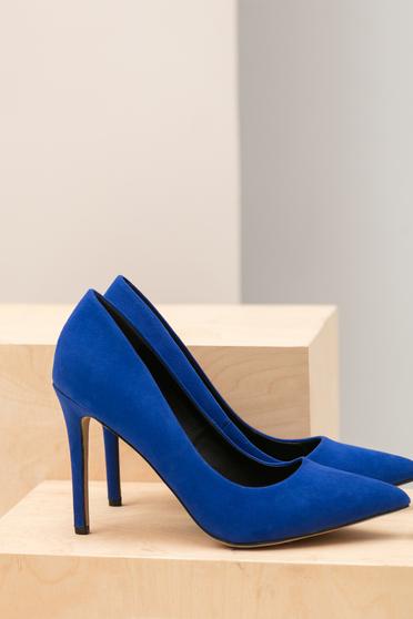 Pantofi Top Secret albastru cu varful usor ascutit
