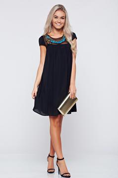 Rochie eleganta din voal StarShinerS neagra cu croi larg