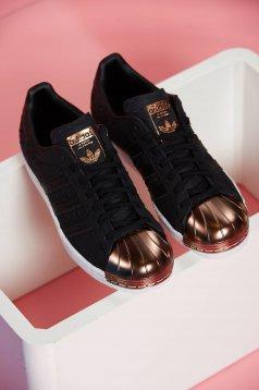 Pantofi sport Adidas Originals Superstar 80s Metal Toe negru cu siret