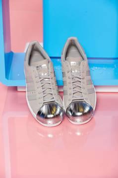 Pantofi sport Adidas Originals Superstar 80s Metal Toe crem cu siret