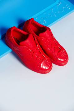 Pantofi sport Adidas Originals Superstar 80s rosii cu siret