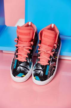 Pantofi sport cu siret Adidas Originals Veritas negru cu imprimeuri florale
