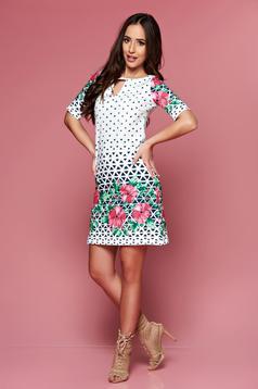 Rochie cu imprimeuri grafice LaDonna rosa cu croi larg