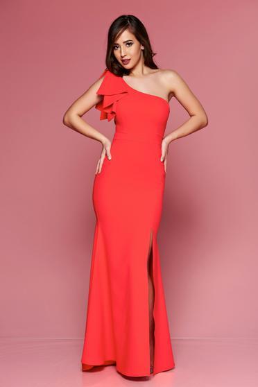 Rochie de ocazie lunga LaDonna rosie pe umar