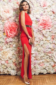Rochie de ocazie lunga PrettyGirl rosie fara maneci