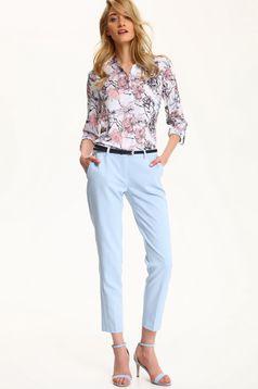 Camasa dama cu maneca lunga Top Secret rosa cu imprimeuri florale