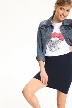 Geaca casual Top Secret albastra din denim