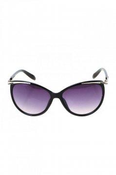 Ochelari de soare cu rama din plastic negru cu lentile cat-eye