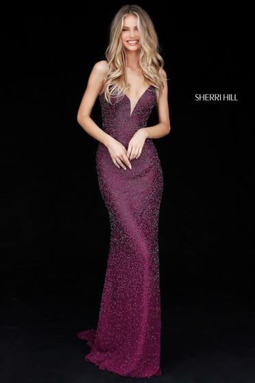 Rochie Sherri Hill 50860 Purple