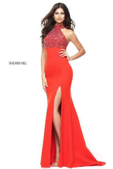 Rochie Sherri Hill 50841 Orange