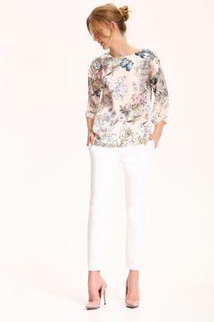 Bluza dama cu croi larg Top Secret piersica cu maneci trei-sferturi