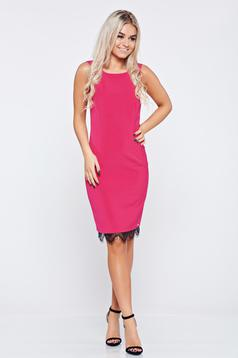 Rochie eleganta midi Top Secret roz fara maneci