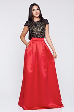 Fusta Fofy rosie eleganta lunga in clos