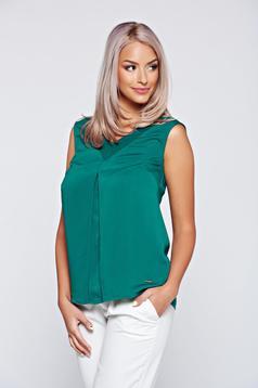 Bluza dama Top Secret verde eleganta cu croi larg