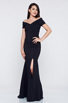 Rochie de ocazie lunga LaDonna neagra cu decolteu in v