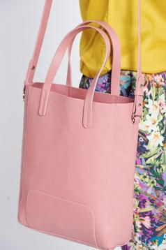 Geanta dama casual Top Secret rosa cu manere de lungime medie