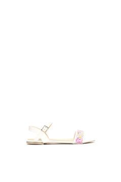 Sandale cu talpa joasa albe cu barete subtiri
