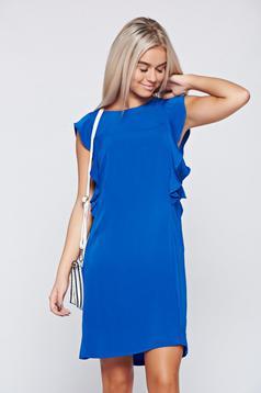 Rochie Top Secret albastra eleganta cu croi larg fara maneci
