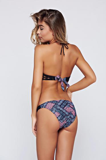 Slip de baie Top Secret negru normal cu print