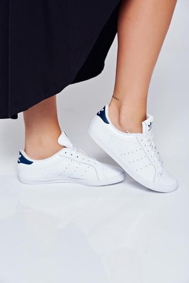 Pantofi sport Adidas Originals Stan Smith albi casual cu talpa usoara