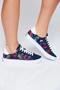 Pantofi sport Adidas Originals negru casual cu imprimeuri florale