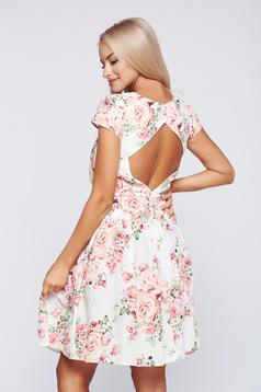 Rochie PrettyGirl rosa in clos din bumbac cu spatele gol