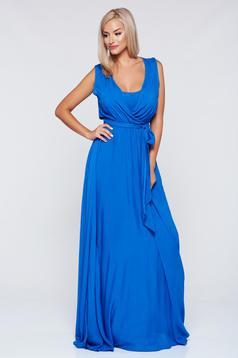 Rochie PrettyGirl albastra casual petrecuta cu croi larg