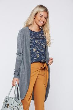 Cardigan Top Secret gri casual