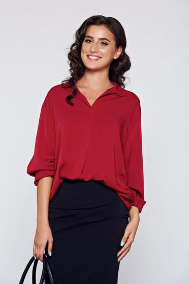 Bluza dama visinie eleganta din material vaporos cu croi larg