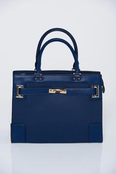 Geanta dama office albastru-inchis cu manere scurte