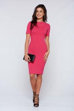Rochie StarShinerS roz eleganta tip creion