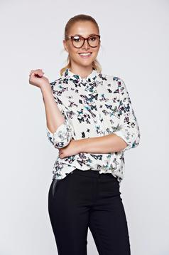 Bluza dama Top Secret alba casual cu croi larg