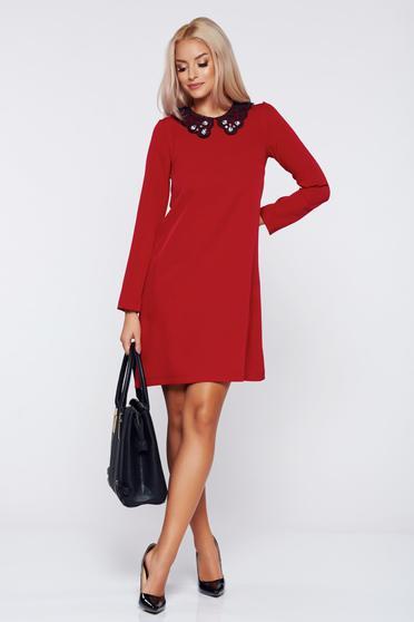 Rochie StarShinerS rosie eleganta de zi cu croi larg