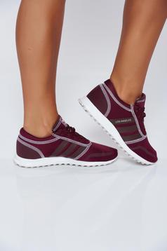 Pantofi sport Adidas Originals visiniu casual cu talpa usoara cu siret