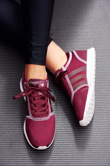 poze cu Pantofi sport Adidas Originals visinii casual cu talpa usoara cu siret