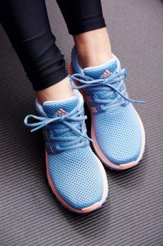 Pantofi sport Adidas albastri casual cu siret cu talpa usoara