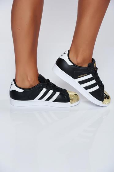 poze cu Pantofi sport Adidas Originals negru casual din piele naturala cu varf metalic