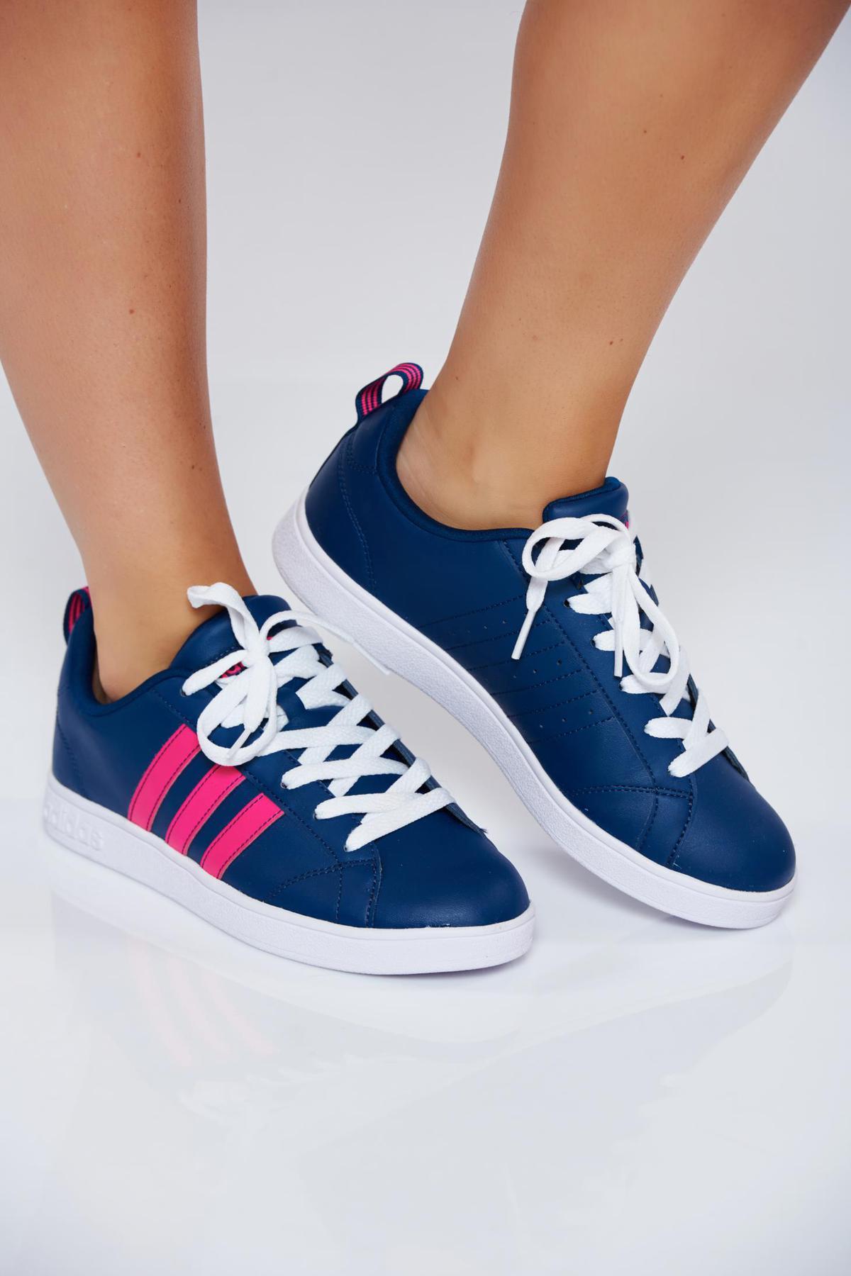 Pantofi sport Adidas Originals albastri casual cu talpa usoara cu siret