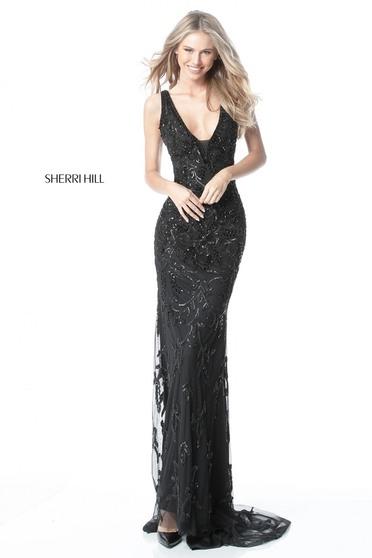 Rochie Sherri Hill 51473 Black