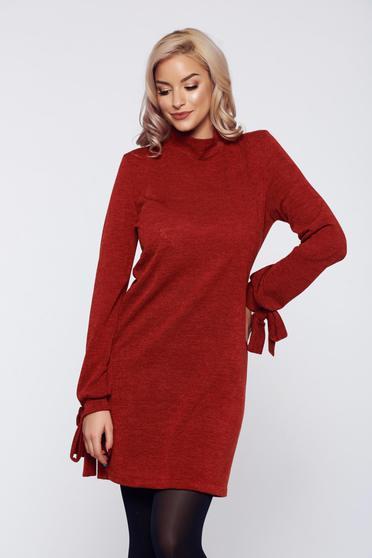 Rochie StarShinerS visinie tricotata cu croi larg captusita pe interior