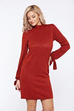 Rochie StarShinerS fall in love visinie tricotata cu croi larg