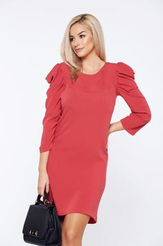 Rochie corai StarShinerS fall in love de zi maneci incretite