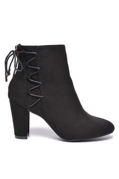 Botine Top Secret negru office cu toc inalt toc gros